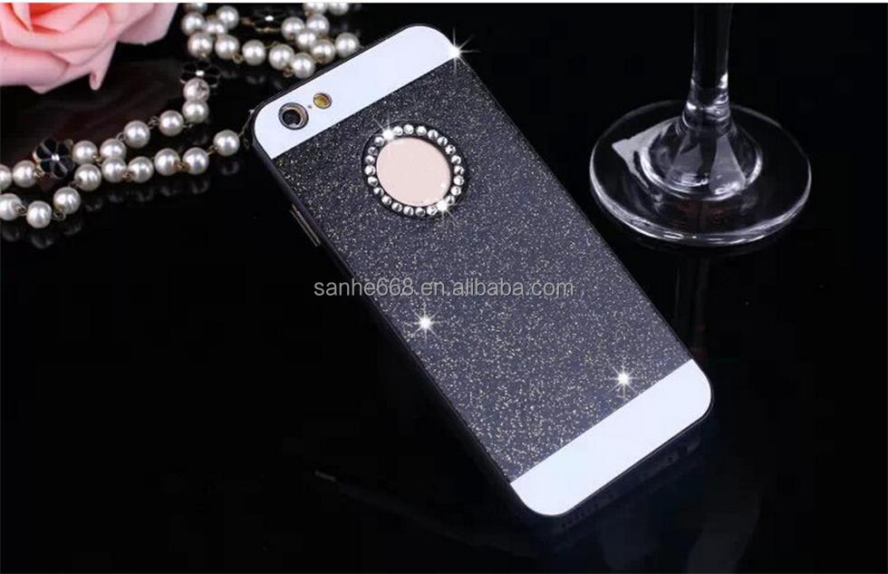 Cheap price high quality fashion glitter case for mobile phone bling bling diamonds glitter phone case for iPhone 5 5s 6 6s plus