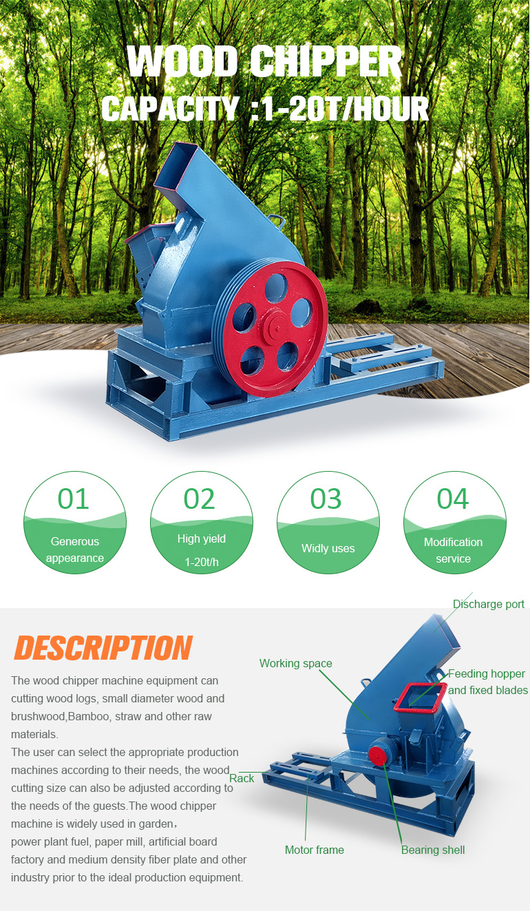 New brand 2017 wood chipper  certificate price made in china From China supplier