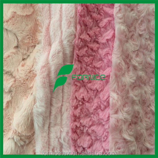 China manufacturer soft short pile faux fur fabric