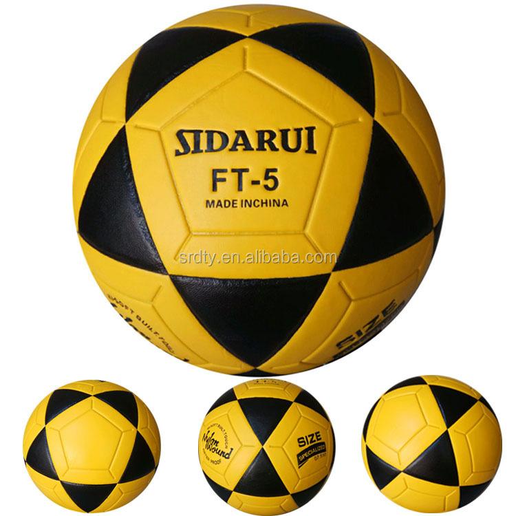 4156affc9d97 Высокие спортивные товары специальный Желтый Черная кожа ПВХ футбольный мяч