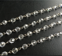 rosary jewelry linked crystal glass faceted cutting beads chain strands