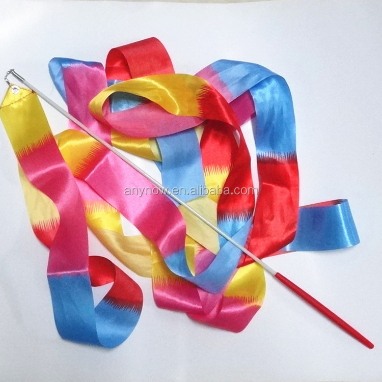 Pure Hand Knitted Chinese Silk Rhythmic Gymnastics Dance Ribbons