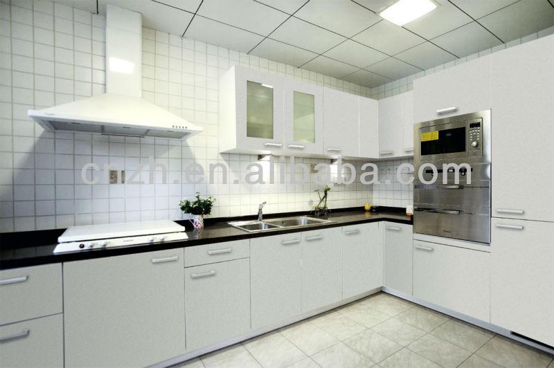 Hermosa mdf blanco demet pintura, mueble cocina modelismo hecho en ...