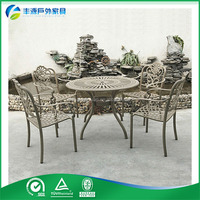 Popular camping aluminum outdoor furniture dining table chairs sets