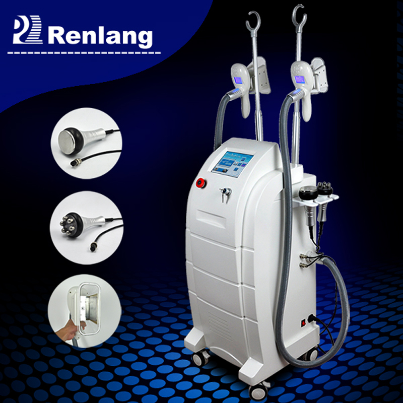 Multi-function belly fat reducing machine with freezing cryolipolysis and cavitation skills