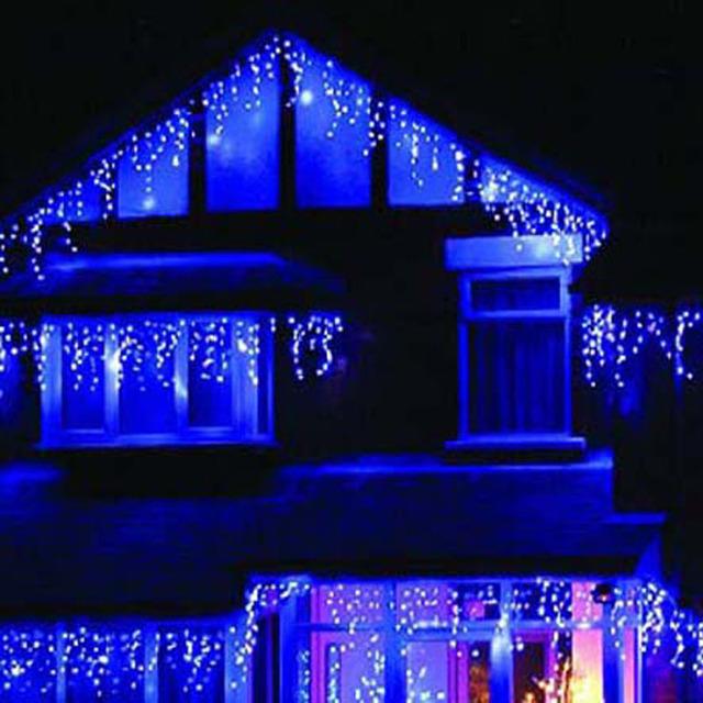 blue led christmas lights guirlande lumineuse exterieur wedding birthday party new year dress. Black Bedroom Furniture Sets. Home Design Ideas