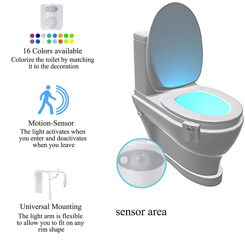 PIR Kızılötesi Hareket Sensörü 16 Renk Değiştirme LED tuvalet aydınlatması Kase Otel WC Koltuk