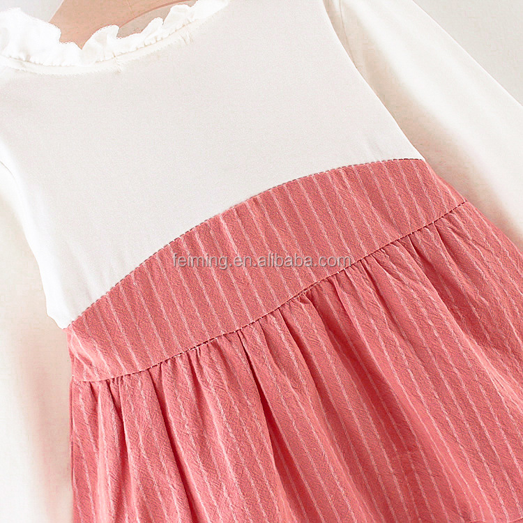 new design autumn spring baby clothes cotton cute ruffle baby girls dress