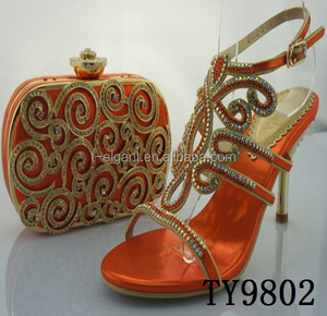 italian shoes and bags to match women TY9802-Orange