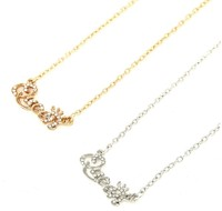 Inspire jewelry wholesale fashion hot selling letter choker necklace women stainless steel Queen pendant necklace