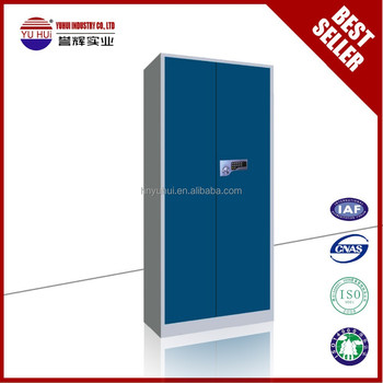 2 doors yellow metal file cabinet with electronic lock or key lock 2 door metal file cabinet
