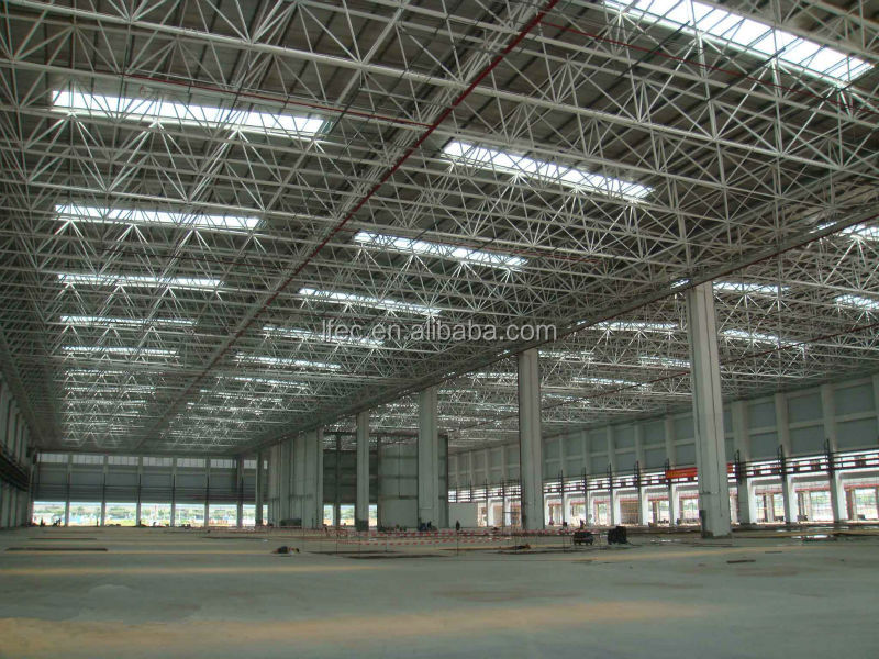 Economical space frame prefabricated steel structure for factory