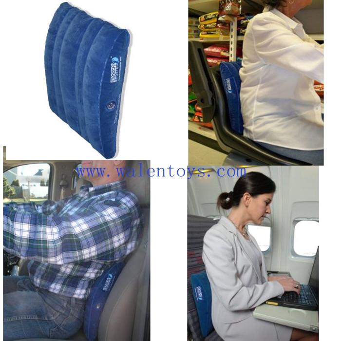 Apoyo para la espalda lumbar inflable coj n de viaje el for Cojin lumbar silla oficina