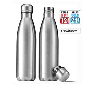 Alkaline Water Bottle Stainless Steel Water Bottle Custom Logo 17Oz Double Wall Vacuum Insulated Camping Water Bottle Amazon