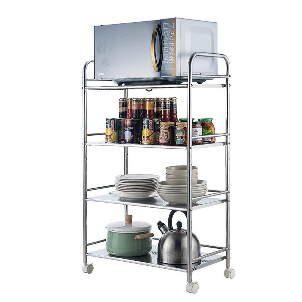 Get quotations · kitchen shelf stainless steel kitchen car shelf utility kitchen trolley kitchen cart with wheels kitchen storage
