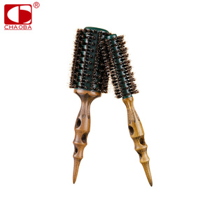 Hot Sell Professional Round Handle Wooden Hair Brush With Boar Bristle