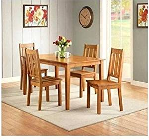 Get Quotations · Dining Table Set For 6 Kitchen Dinette Solid Wood Chairs  Breakfast Furniture 5 Piece
