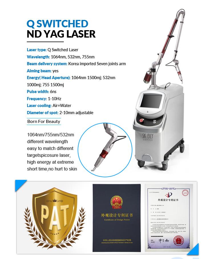 2019 newest picosecond  laser skin rejuvenation tattoo removal machine