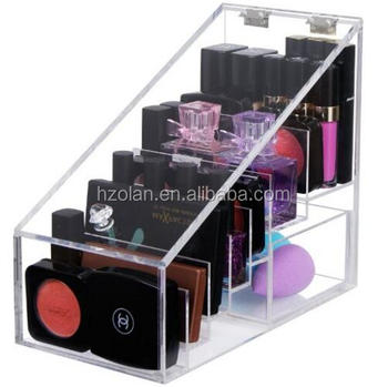 06790466cd01 Transparent Cosmetic Makeup Organizer For Lipstick,Brushes,Bottles,And  More. Clear Case Display Rack Holder - Buy Fashion Custom Clear Acrylic Box  ...