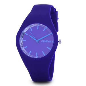 GENEVwatches silicone rubber products cheap promotion pretty wrist watches men women