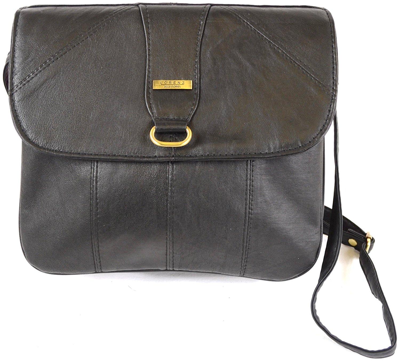 Get Quotations Las Super Soft Na Leather Shoulder Bag Cross Body Black Dark Brown