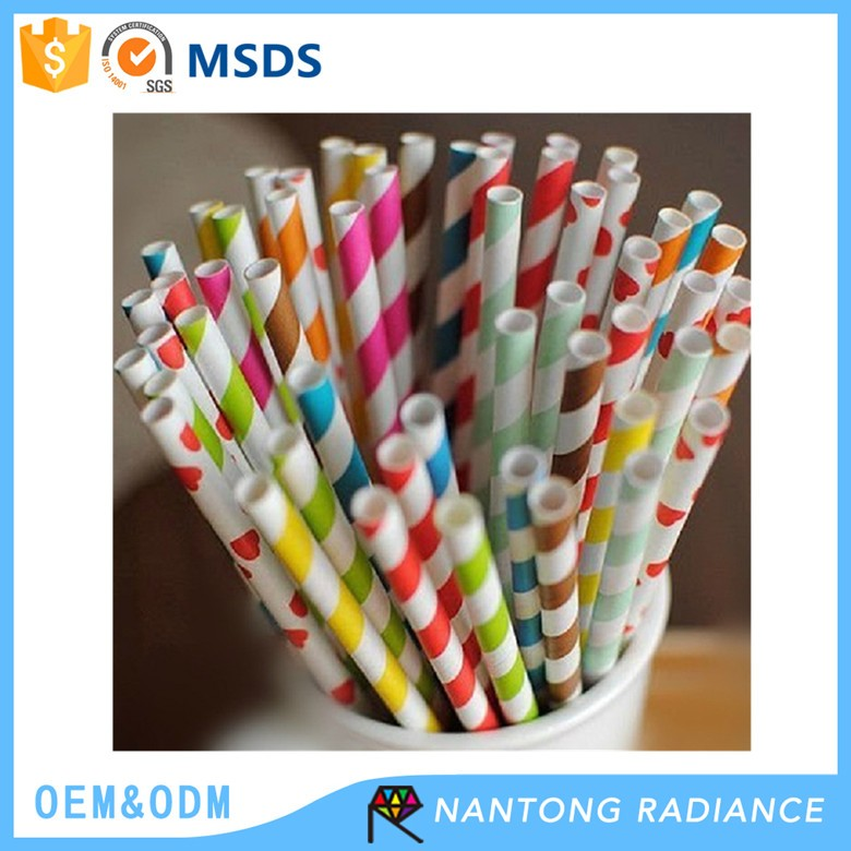 Japan Quality 6*19.8CM Disposable Drinkking Paper Straw