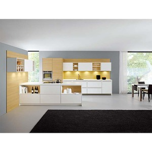 Lacquer white drawer front kitchen cabinet end panels