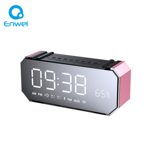 DG100 Mirror Clock Bluetooths Speaker Bluetooths 4.1 Mobile Computer Card Speaker LED Alarm Clock Subwoofer speaker
