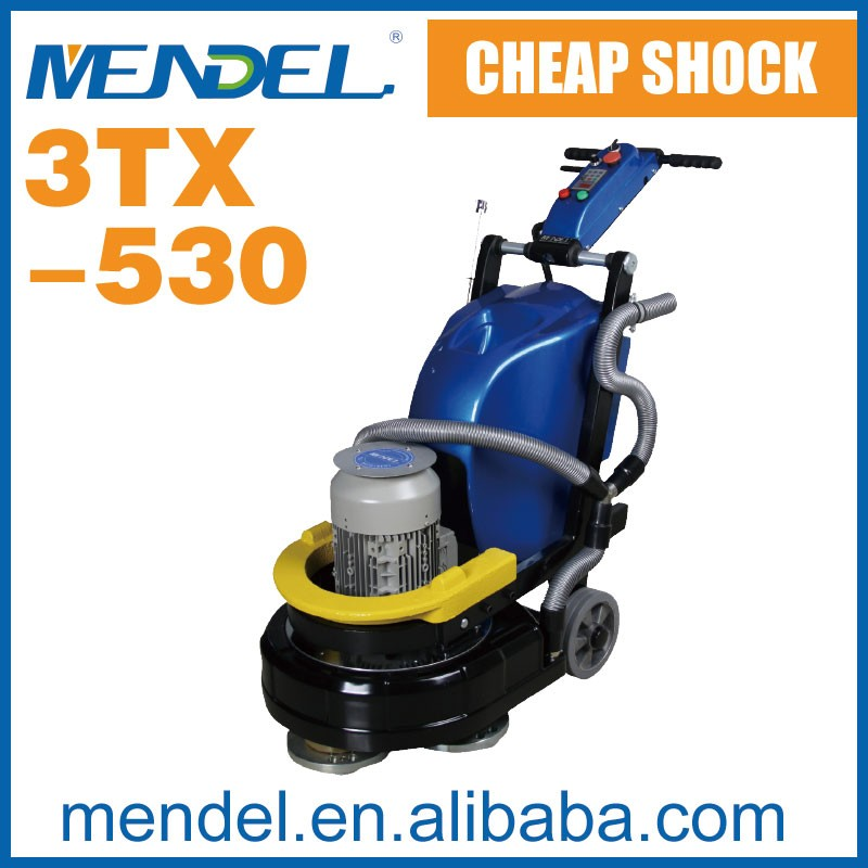 Mendel 3TX-530 concrete diamond polishing machine, clean epoxy resin grinding machine concrete polishing machine