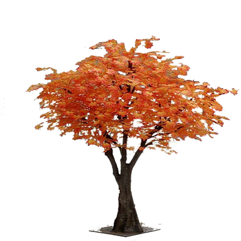 Good Quality Autumn Tree Make Artificial Red Maple Tree Leaves