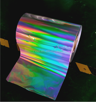Thermal seamless rainbow pillar of light BOPP Holographic lamination film with acrylic for printing and packing