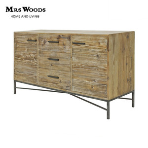 High Quality 3 Drawer 2 Door Reclaimed Fir Wood Drawer Chest