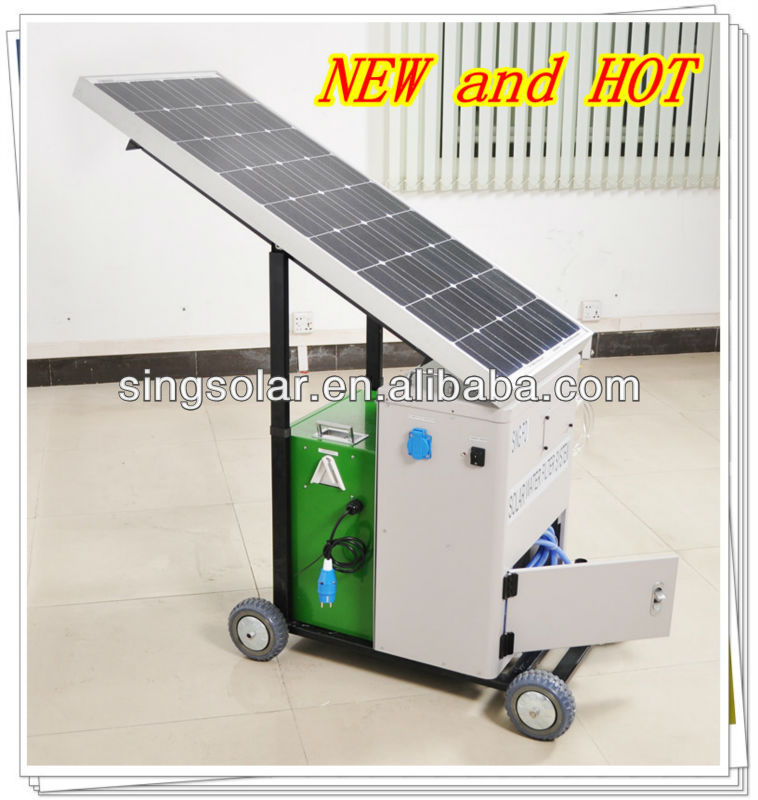 solar power water filter machine for severely afflicted aid