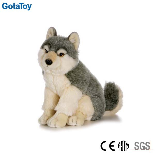 New design custom looking realistic wolf plush toy
