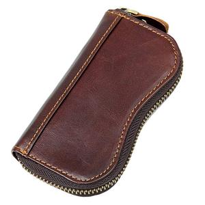 67fa4e17c9aa5 Men s Leather Car Key Holder Wallet Pouch Coin Pockets Card Slots Wallet