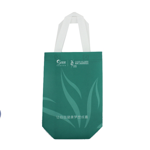 Factory custom recyclable folding laminated pp non woven bag shopping with screen printing LOGO
