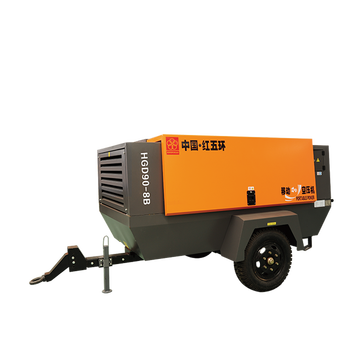 Large 90kw Direct 13bar Mobile Screw Drive 12vdc Italy Type 5.5hp 100l Petrol Engine Portable Electric Air Compressor