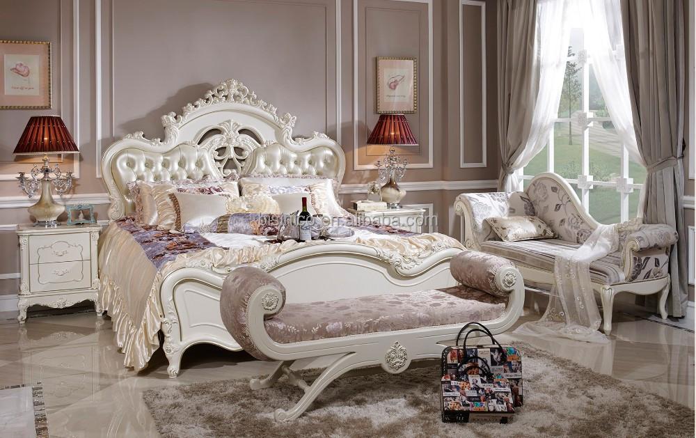 Dormitorio rom ntico sexo muebles cama de cuero blanco en for Muebles romanticos blancos