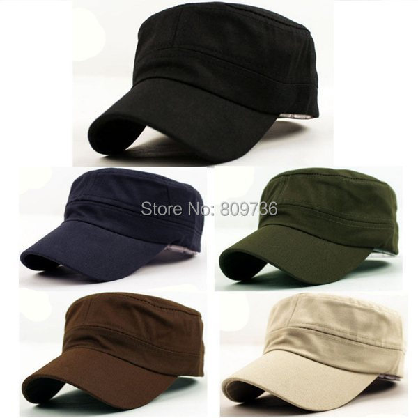 1Pc Classic Women Men Snapback Caps Vintage Army Hat Cadet Military ... 43fa1067a2c