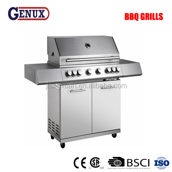 Large cooking area stainless steel with infrared burner bbq grill