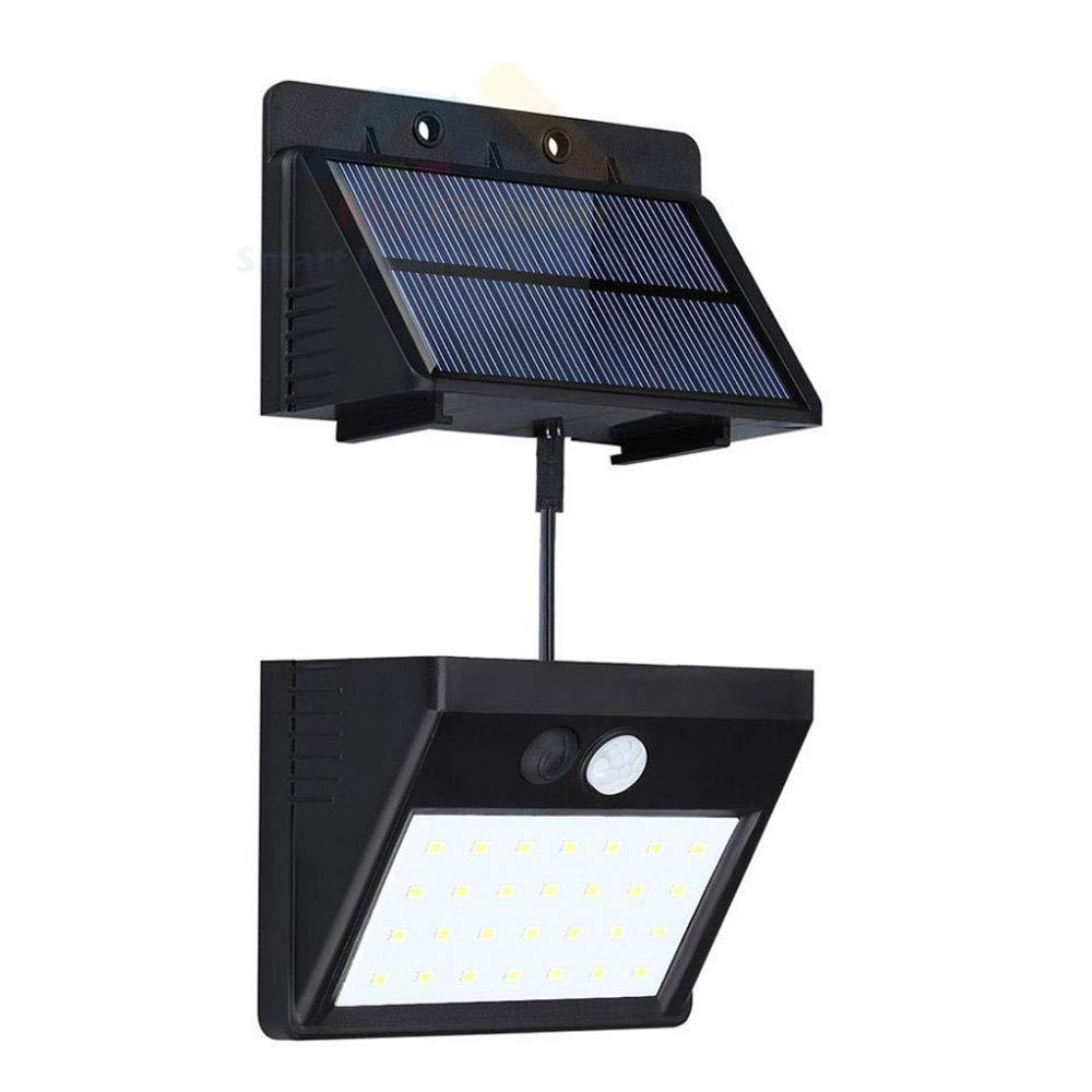 Wall Light Solar Powered 28 Led Motion Sensor Night Light Outdoor Waterproof Detachable Design for Garden Patio Deck