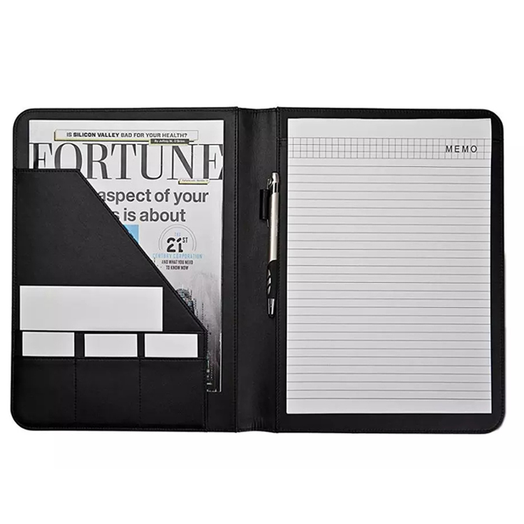 Professional Executive PU Leather Business Resume Portfolio Padfolio Organizer Portfolio Folder With Pen Holder