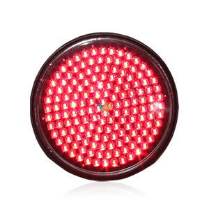 Unique design 300mm red traffic module with lens traffic signal light