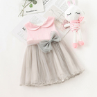 Latest Baby clothes Kids clothing sleeveless lovely party girl dress
