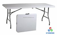Office Star 6-Feet Resin Multipurpose Rectangle Folding Table with Center Folding