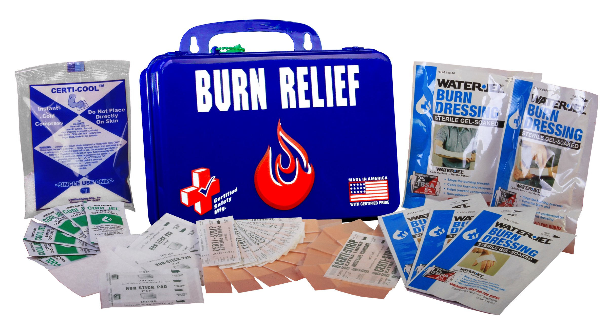 Certified Safety K612-161 18PN Burn Relief First Aid Kit in Poly Navy