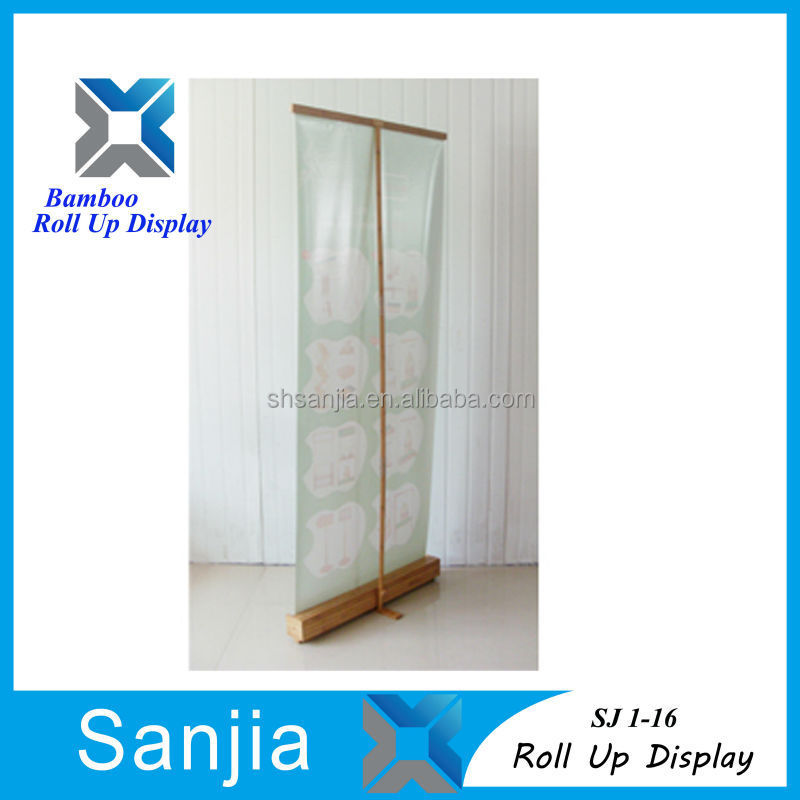 Bamboo Roll Up Banner Display Stand SJ 1-16,SJ 1-16 Roll Up Banner Display Stand Bamboo