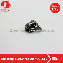 Gun nickle zippers slider wirh high quality D ring shape zipper puller,