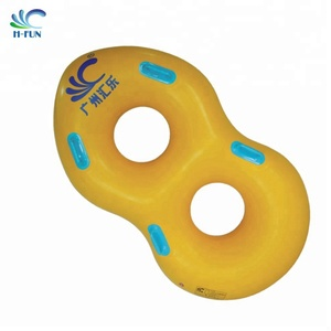 New-designed inflatable water slide double-tube for water park slides popular for aqua sports