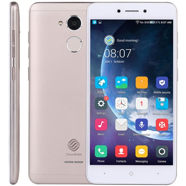China Mobile A3S M653 RAM 2GB ROM 16GB Mobile Phones Fingerprint 5.2 inch 8MP Android 7.1 Quad Core Dual <strong>SIM</strong> 4G LTE Smartphones